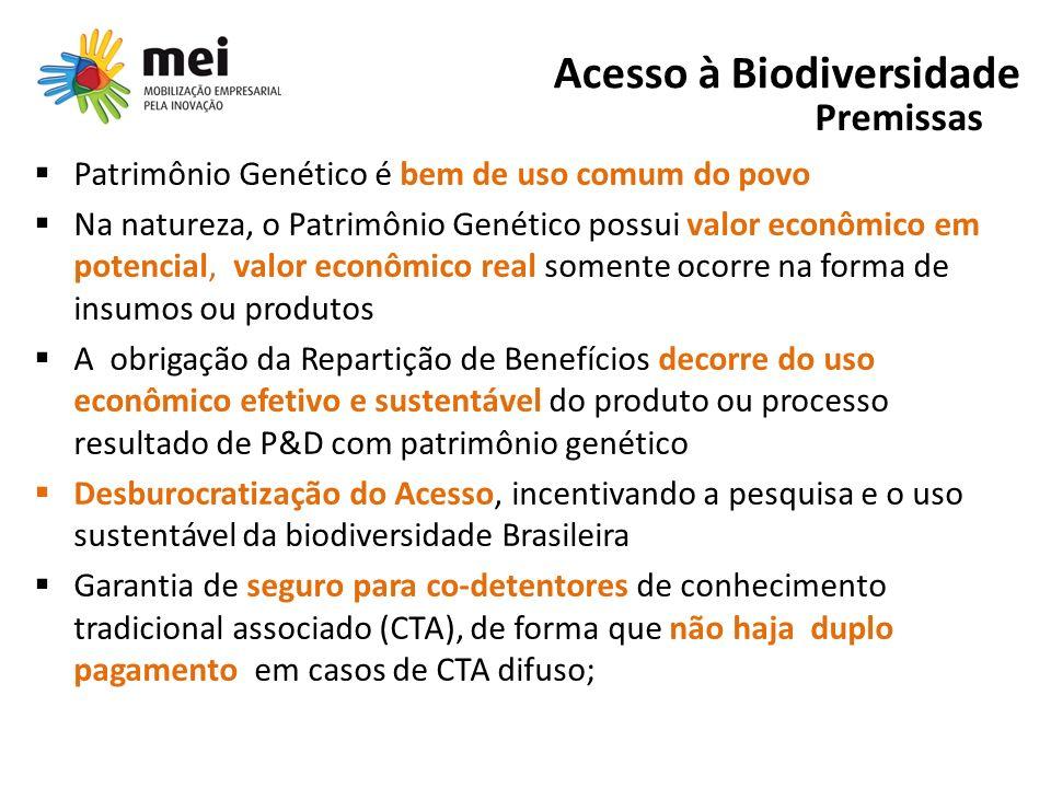 Proposta do Setor Industrial Desburocratização do Acesso incentivando a pesquisa e o uso sustentável da Biodiversidade