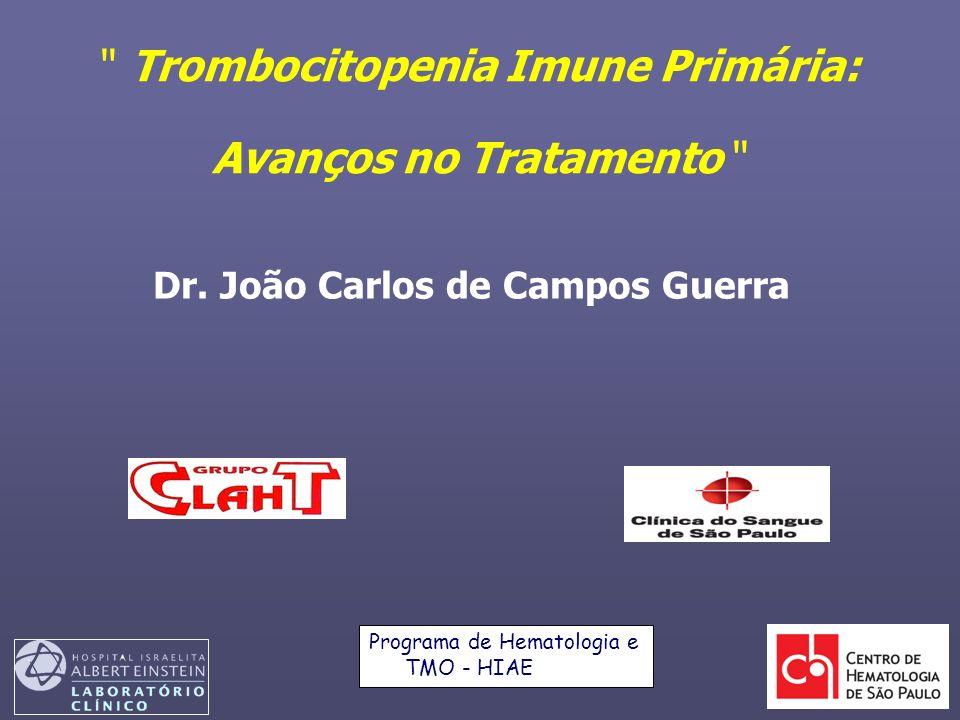 Eventos adversos de interesse especial independente da causa Qualquer evento adverso, n (%) Placebo n=38 eltrombopag n=76 Hemorragia*5 (13)7 (9) Catarata1 (3)3 (4) Eventos hepatobiliares 1 (3)6 (8) Eventos tromboembólicos–– Diminuição transitória na contagem de plaquetas 5 (13)8 (11) *Investigator-reported AEs; Significantly (p<0.001) reduced in the eltrombopag treatment arm; defined as increases in aspartate or aminotransferases, bilirubin or alkaline phosphatase; AE=adverse event *Todos os relatos de hemorragia foram incluídos; definido como aumento do aspartato ou aminotransferase alanina, bilirrubina ou fosfatase alcalina 25.