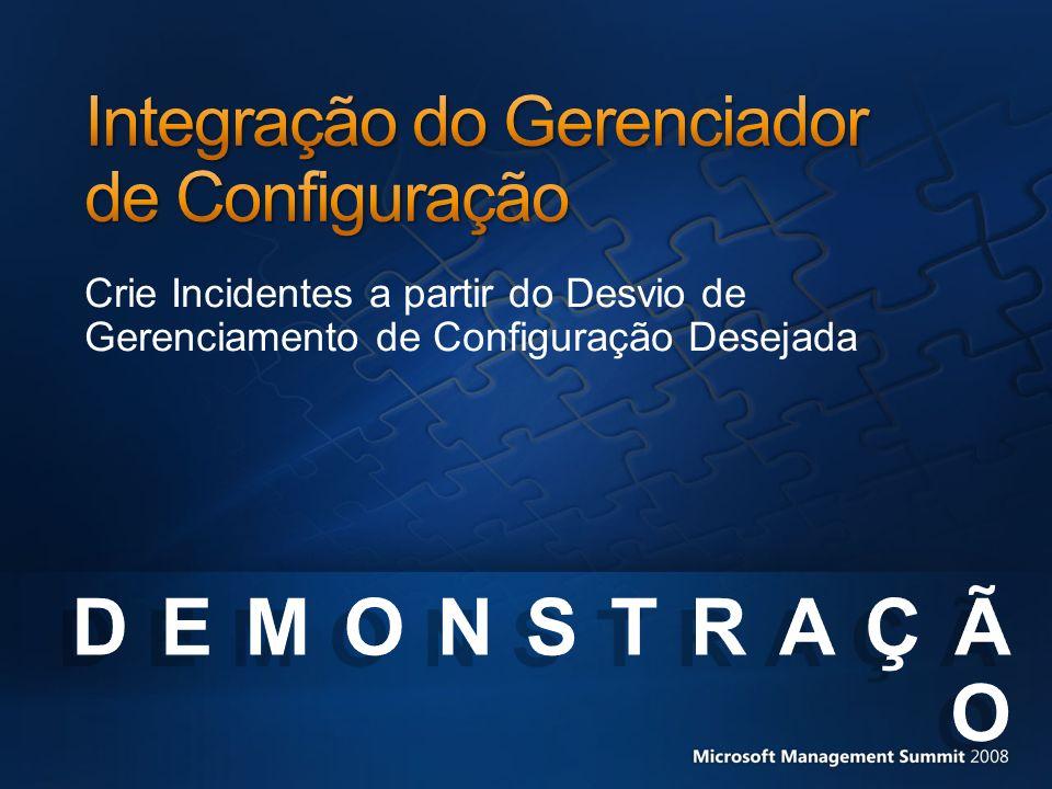 Crie Incidentes a partir do Desvio de Gerenciamento de Configuração Desejada