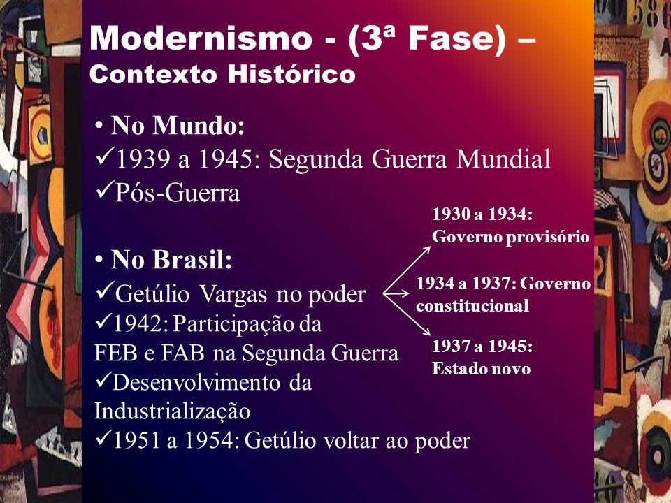 Modernismo - (3ª Fase) - Por dentro da obra Estrutura: 18 partes Grupo I - Cap.