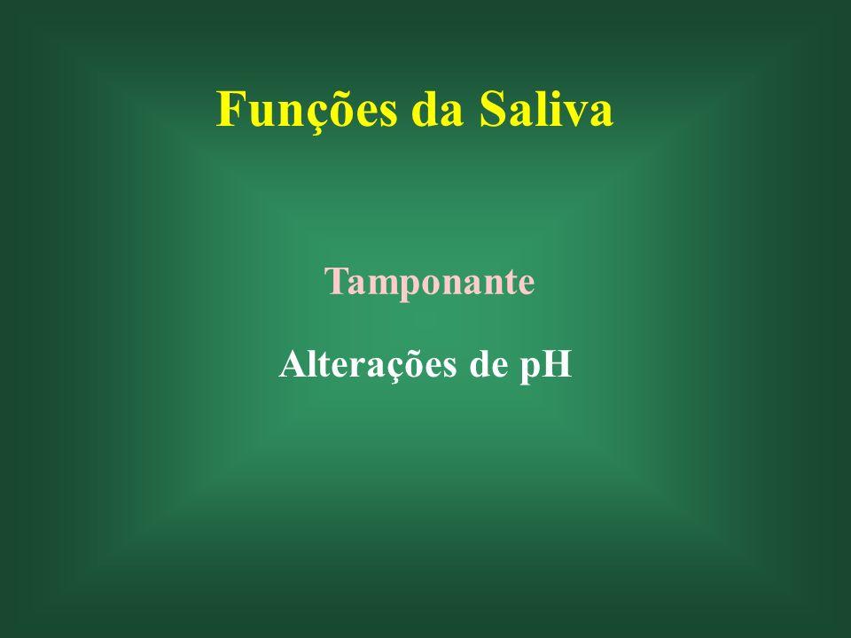 Funções da Saliva Tamponante Alterações de pH