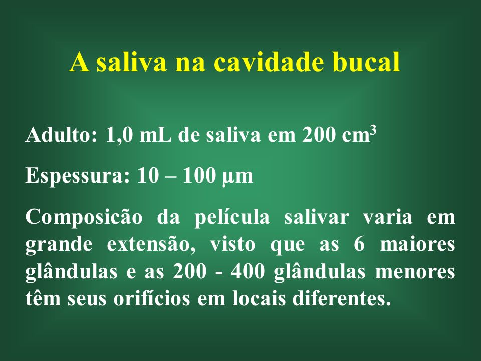 Funções da Saliva Digestiva Lubrificante Solvente Defesa Limpeza Tamponante Remineralizante Excretora