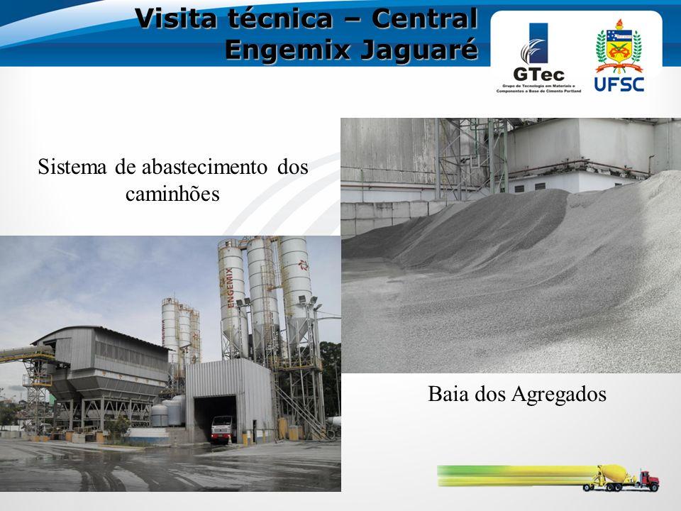 Visita técnica – Central Engemix Jaguaré Baia dos Agregados Sistema de abastecimento dos caminhões