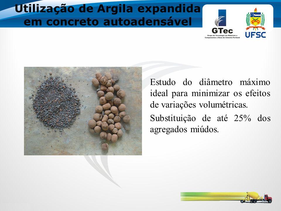 Utilização de Argila expandida em concreto autoadensável Estudo do diâmetro máximo ideal para minimizar os efeitos de variações volumétricas.