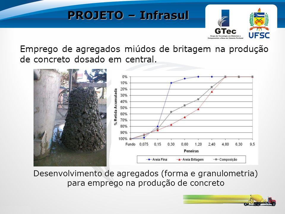 PROJETO – Infrasul Emprego de agregados miúdos de britagem na produção de concreto dosado em central.