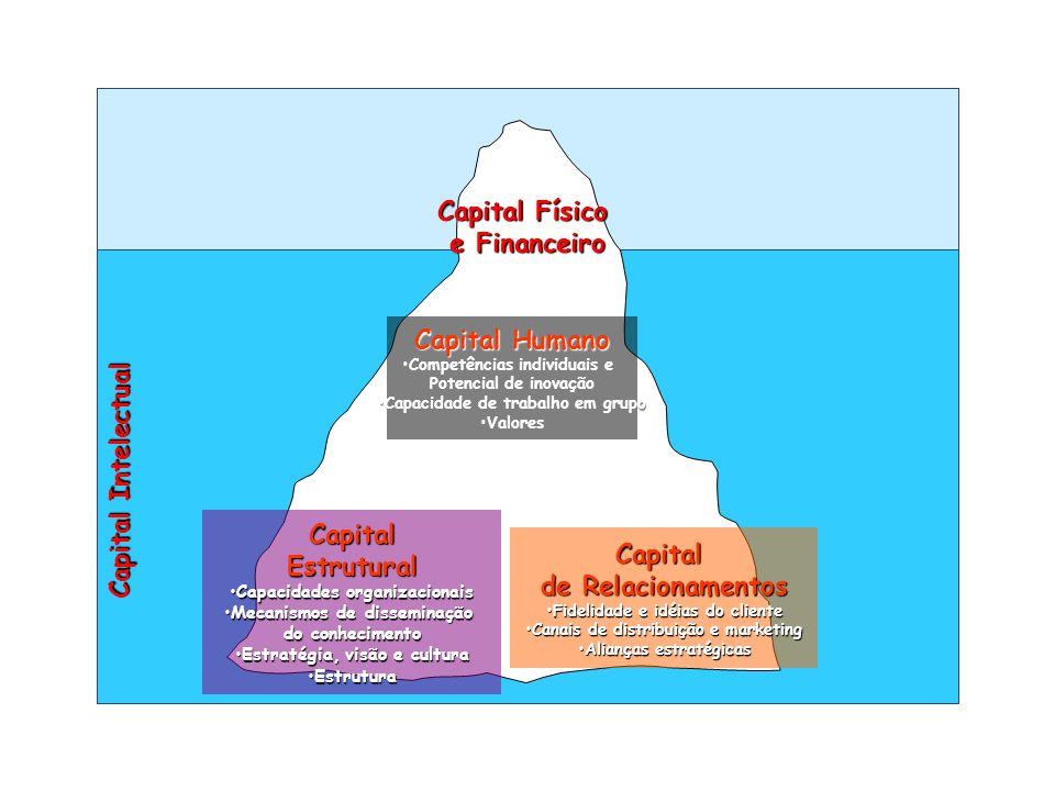 Capital Físico e Financeiro Capital Humano Competências individuais eCompetências individuais e Potencial de inovação Capacidade de trabalho em grupoC