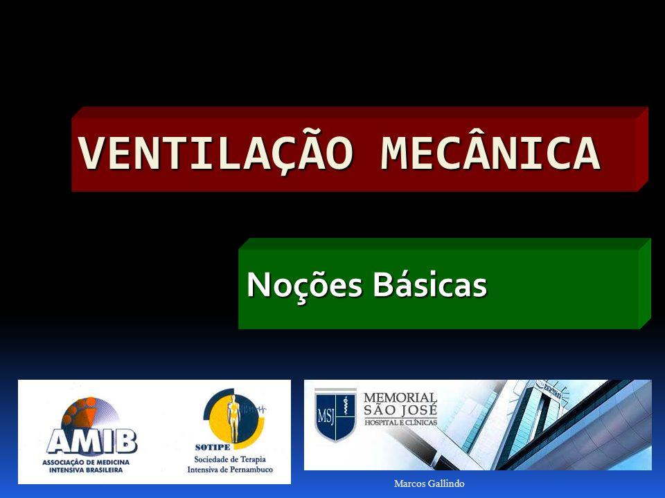 Marcos Gallindo VENTILAÇÃO MECÂNICA Noções Básicas