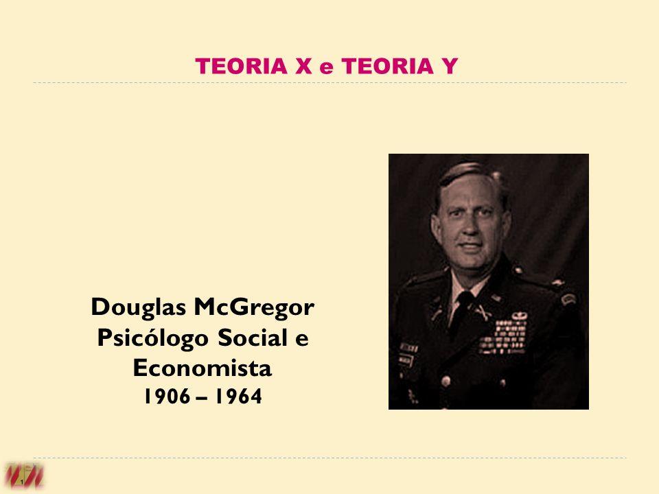 Douglas McGregor Psicólogo Social e Economista 1906 – 1964 TEORIA X e TEORIA Y