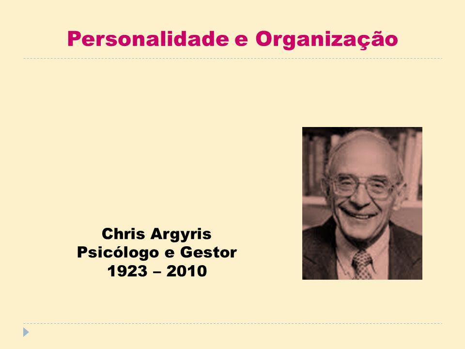 Personalidade e Organização Chris Argyris Psicólogo e Gestor 1923 – 2010
