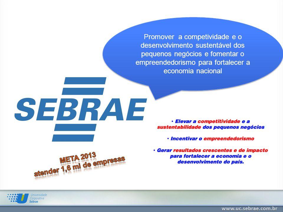 Promover a competividade e o desenvolvimento sustentável dos pequenos negócios e fomentar o empreendedorismo para fortalecer a economia nacional