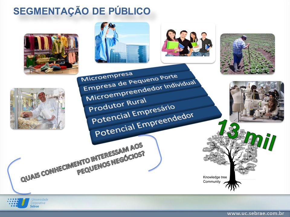 UNIVERSIDADE CORPORATIVA SEBRAE Promover ambiente de aprendizagem para o desenvolvimento de competências dos colaboradores internos e externos, contribuindo para o alcance dos resultados do SEBRAE junto aos pequenos negócios.