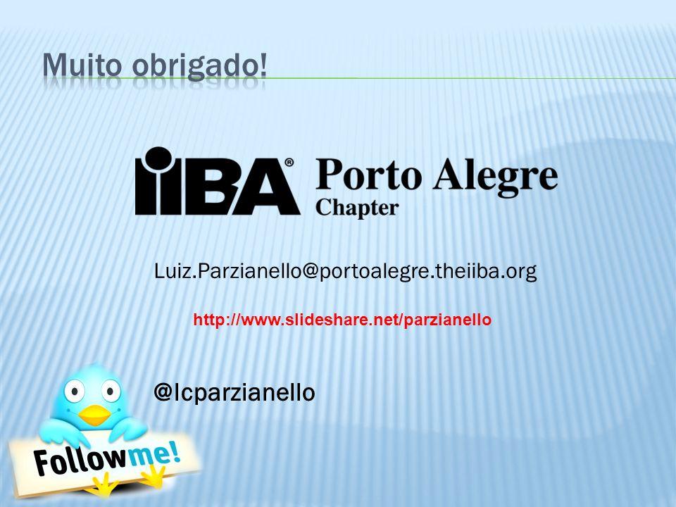 @lcparzianello Luiz.Parzianello@portoalegre.theiiba.org http://www.slideshare.net/parzianello