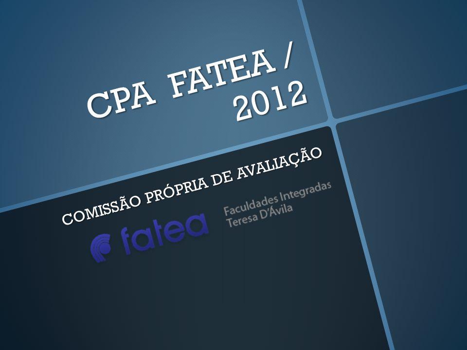 CPA FATEA / 2012 COMISSÃO PRÓPRIA DE AVALIAÇÃO