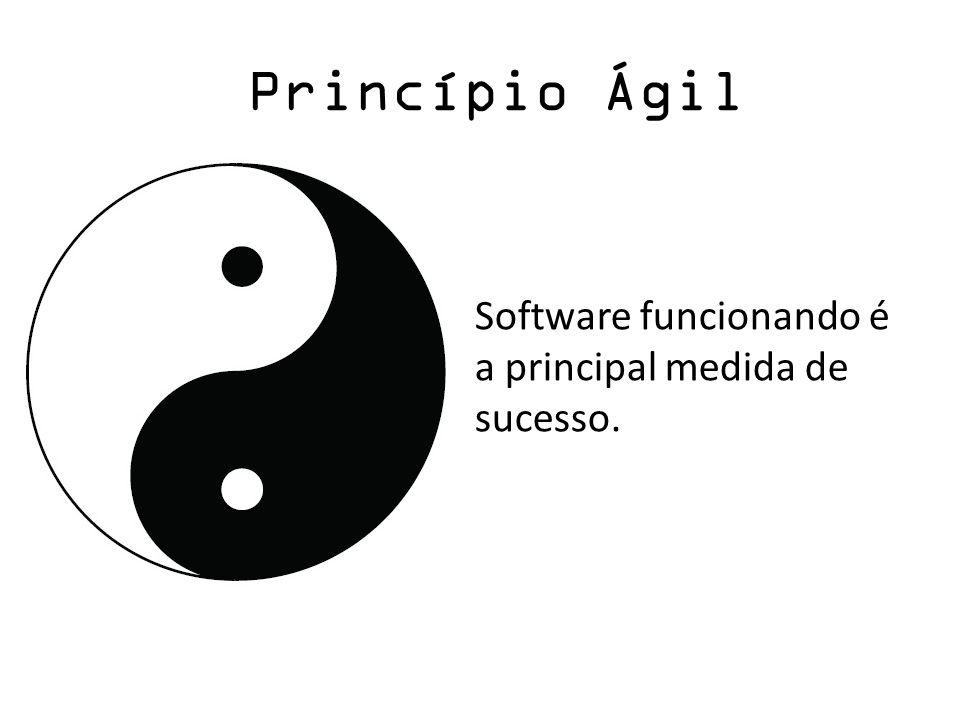 Princípio Ágil Software funcionando é a principal medida de sucesso.