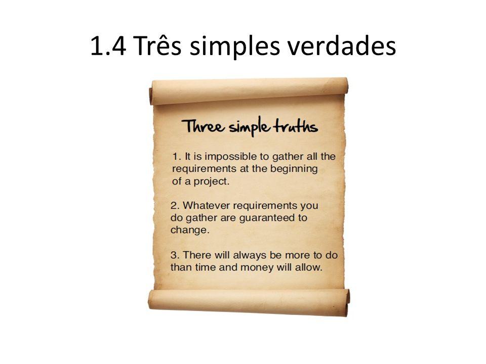1.4 Três simples verdades