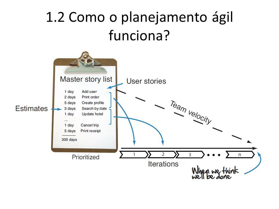 1.2 Como o planejamento ágil funciona?
