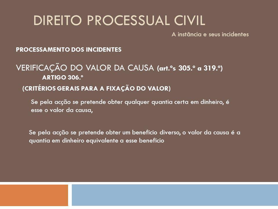 DIREITO PROCESSUAL CIVIL A instância e seus incidentes TRAMITAÇÃO 5.