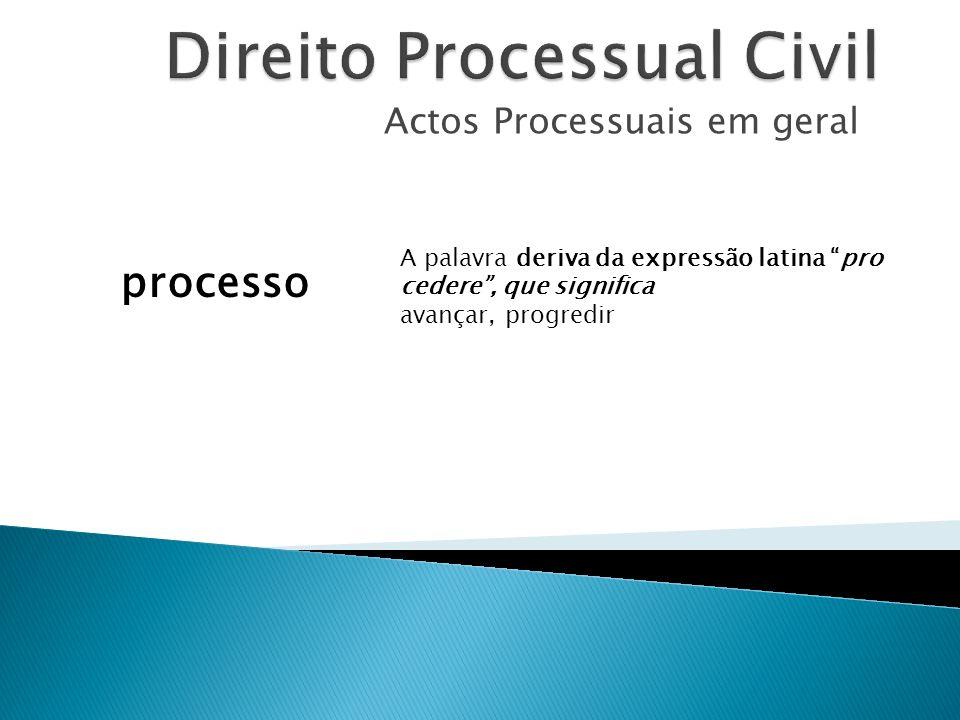A palavra deriva da expressão latina pro cedere, que significa avançar, progredir processo