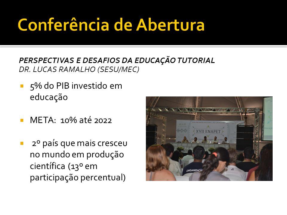 Realizado no Campus Bacanga, da UFMA Ocorre paralelamente com o encontro do SPBC (Sociedade Brasileira para o Progresso da Ciência)