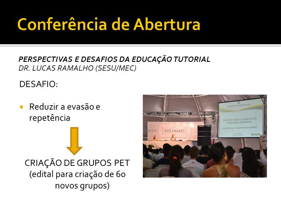 PERSPECTIVAS E DESAFIOS DA EDUCAÇÃO TUTORIAL DR. LUCAS RAMALHO (SESU/MEC) 5% do PIB investido em educação META: 10% até 2022 2º país que mais cresceu