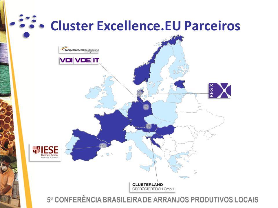 5ª CONFERÊNCIA BRASILEIRA DE ARRANJOS PRODUTIVOS LOCAIS Cluster Excellence.EU Parceiros