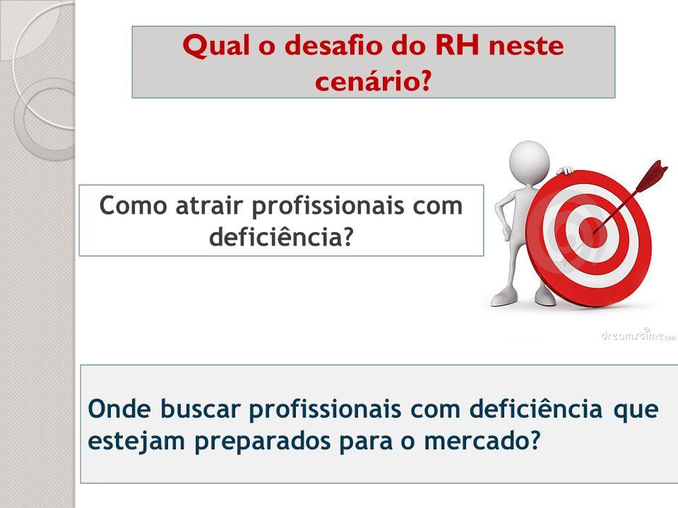Qual o desafio do RH neste cenário? Como atrair profissionais com deficiência? Onde buscar profissionais com deficiência que estejam preparados para o