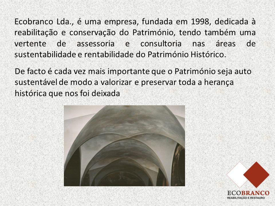 Ecobranco Lda., é uma empresa, fundada em 1998, dedicada à reabilitação e conservação do Património, tendo também uma vertente de assessoria e consult