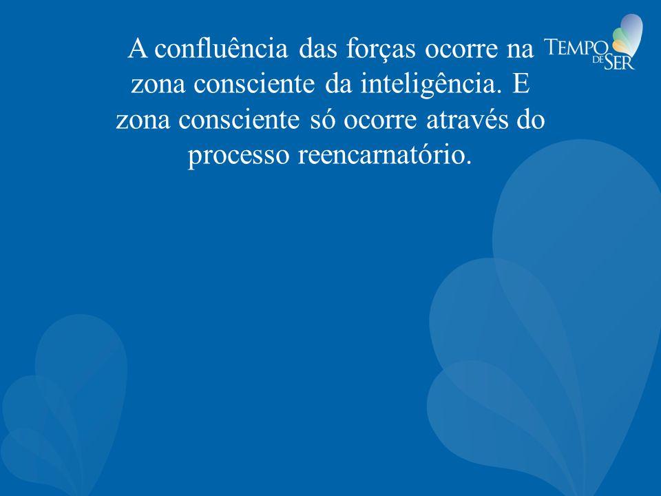 A confluência das forças ocorre na zona consciente da inteligência. E zona consciente só ocorre através do processo reencarnatório.