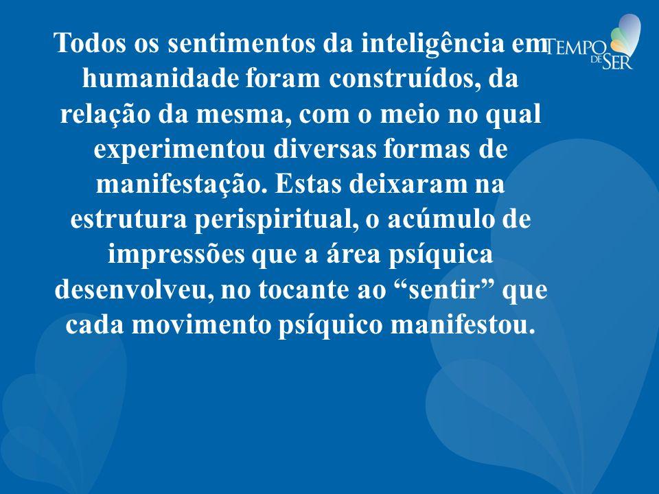 Todos os sentimentos da inteligência em humanidade foram construídos, da relação da mesma, com o meio no qual experimentou diversas formas de manifest