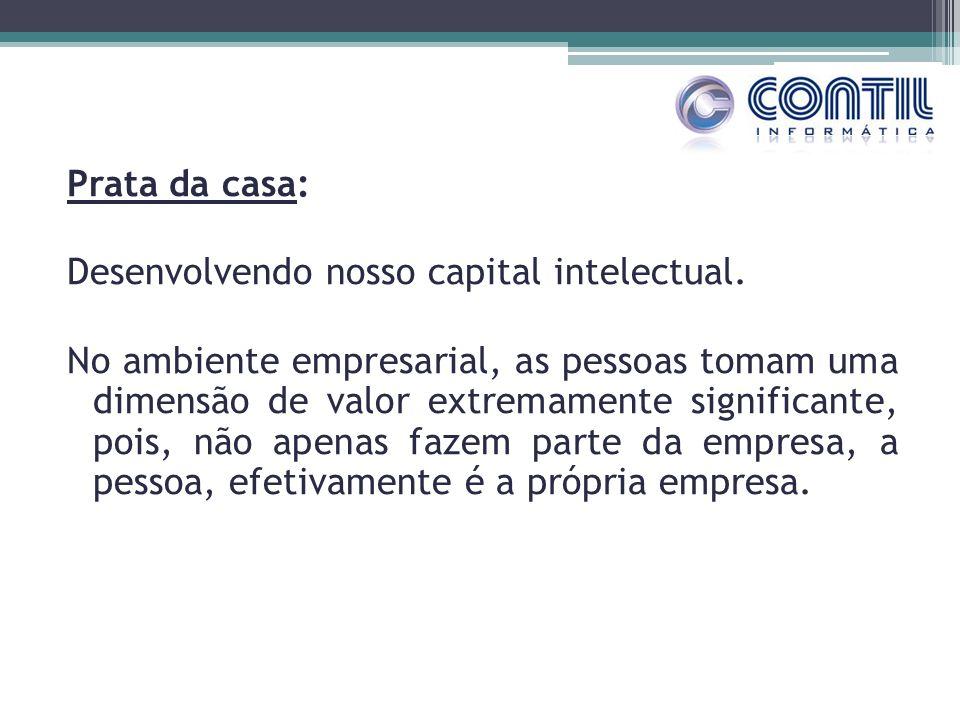 Prata da casa: Desenvolvendo nosso capital intelectual. No ambiente empresarial, as pessoas tomam uma dimensão de valor extremamente significante, poi