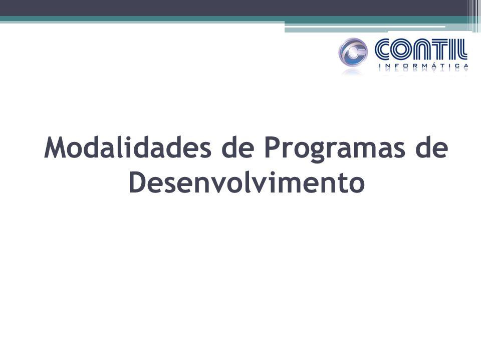Modalidades de Programas de Desenvolvimento