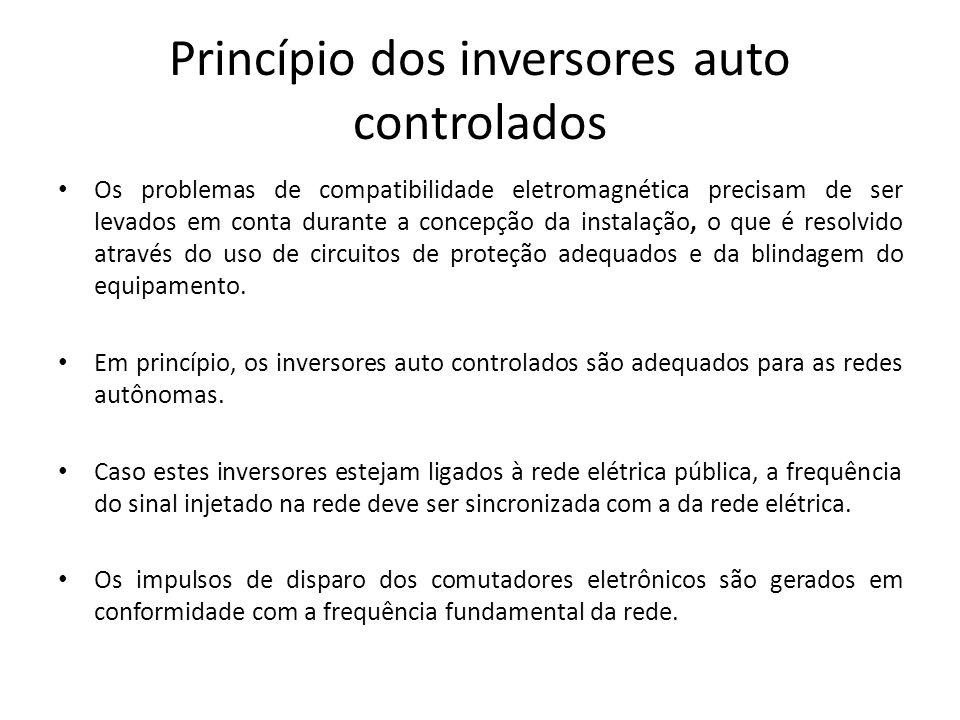 Princípio dos inversores auto controlados Os problemas de compatibilidade eletromagnética precisam de ser levados em conta durante a concepção da inst
