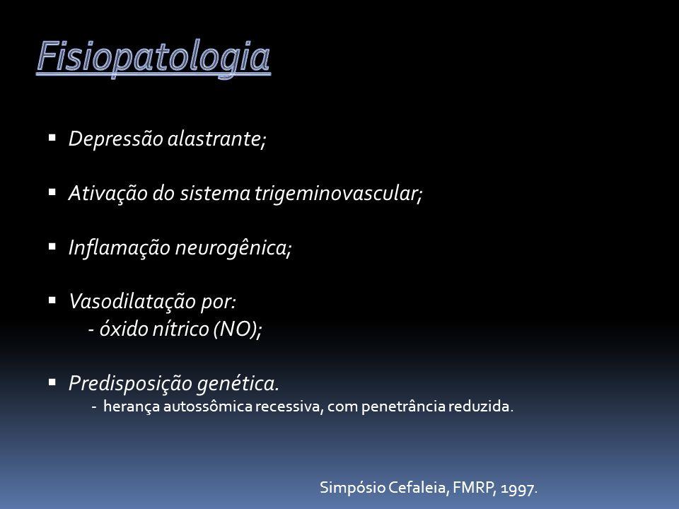 Depressão alastrante; Ativação do sistema trigeminovascular; Inflamação neurogênica; Vasodilatação por: - óxido nítrico (NO); Predisposição genética.