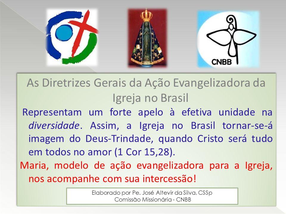 As Diretrizes Gerais da Ação Evangelizadora da Igreja no Brasil Representam um forte apelo à efetiva unidade na diversidade. Assim, a Igreja no Brasil