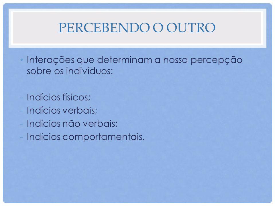 INFLUÊNCIA DA PERCEPÇÃO NO COMPORTAMENTO Aproximação; Cautela; Afastamento; Rechaço