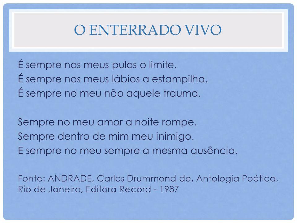 ATIVIDADE 1 Os poemas são formas de literatura que possibilitam a criação de imagens através de palavras.