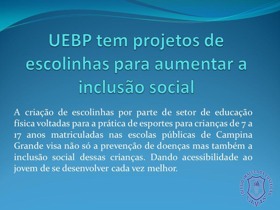 Esse projeto realizado no nosso município no bairro Severino Cabral além de ajudar com o desenvolvimento corpóreo do jovem e na inclusão social, o ajuda nas notas.
