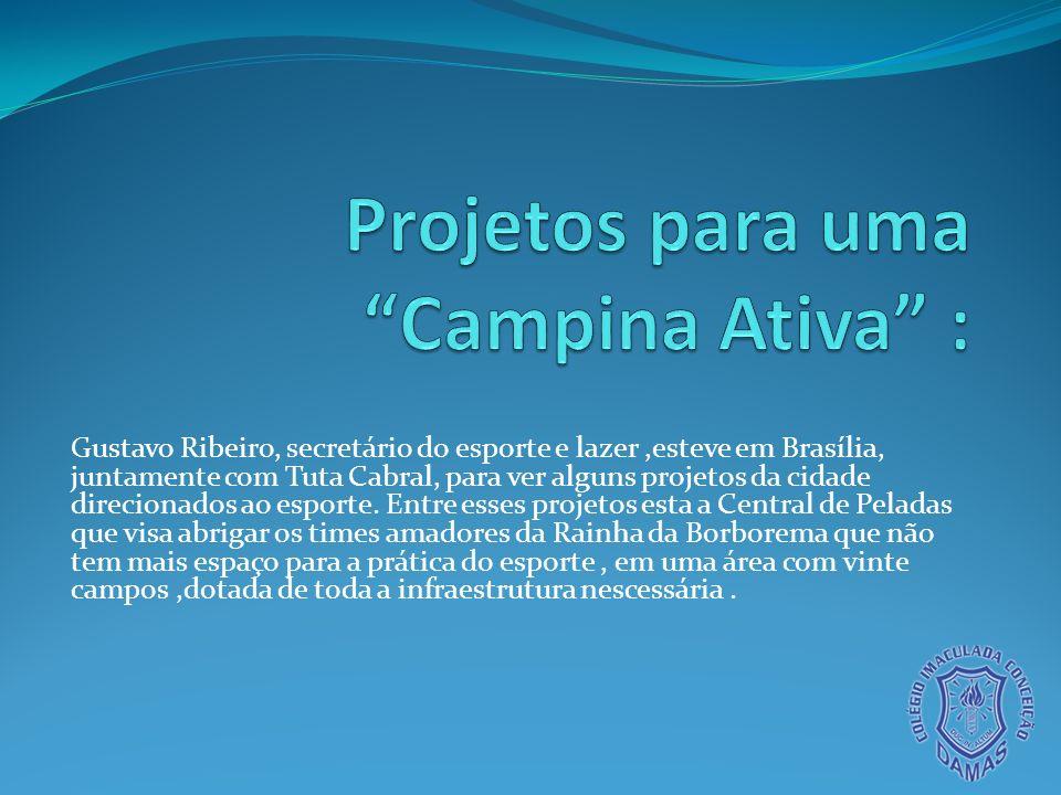 Gustavo Ribeiro, secretário do esporte e lazer,esteve em Brasília, juntamente com Tuta Cabral, para ver alguns projetos da cidade direcionados ao espo