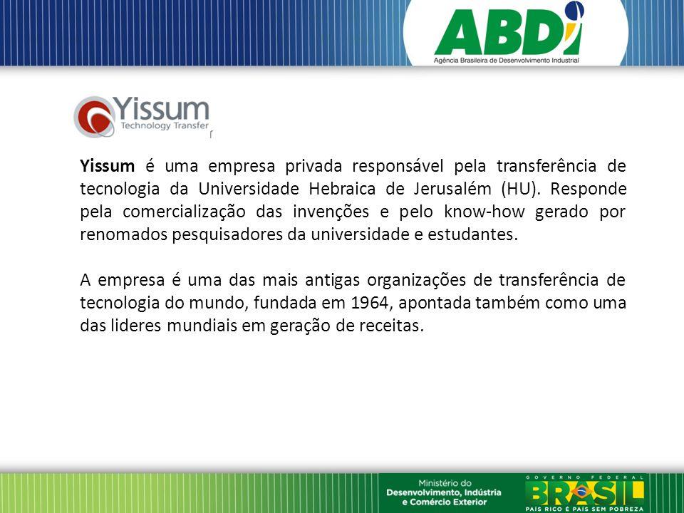 Yissum é uma empresa privada responsável pela transferência de tecnologia da Universidade Hebraica de Jerusalém (HU).