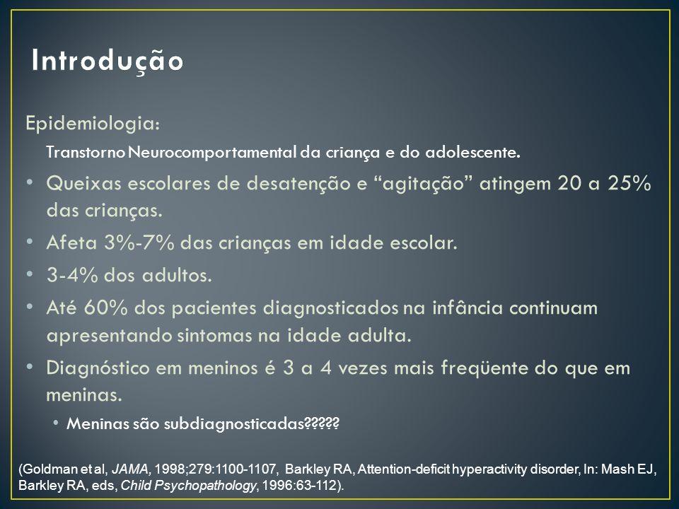 Epidemiologia: Transtorno Neurocomportamental da criança e do adolescente.