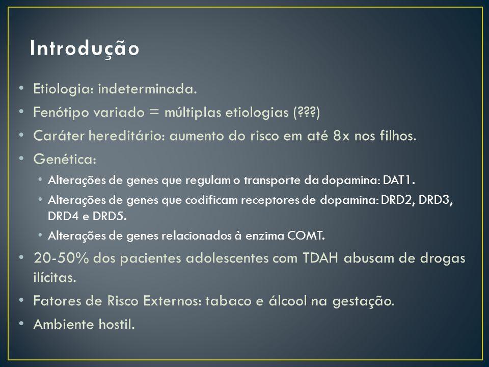 Etiologia: indeterminada.