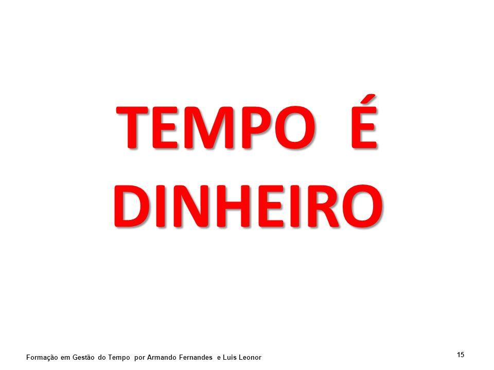 TEMPO É DINHEIRO Formação em Gestão do Tempo por Armando Fernandes e Luis Leonor 15