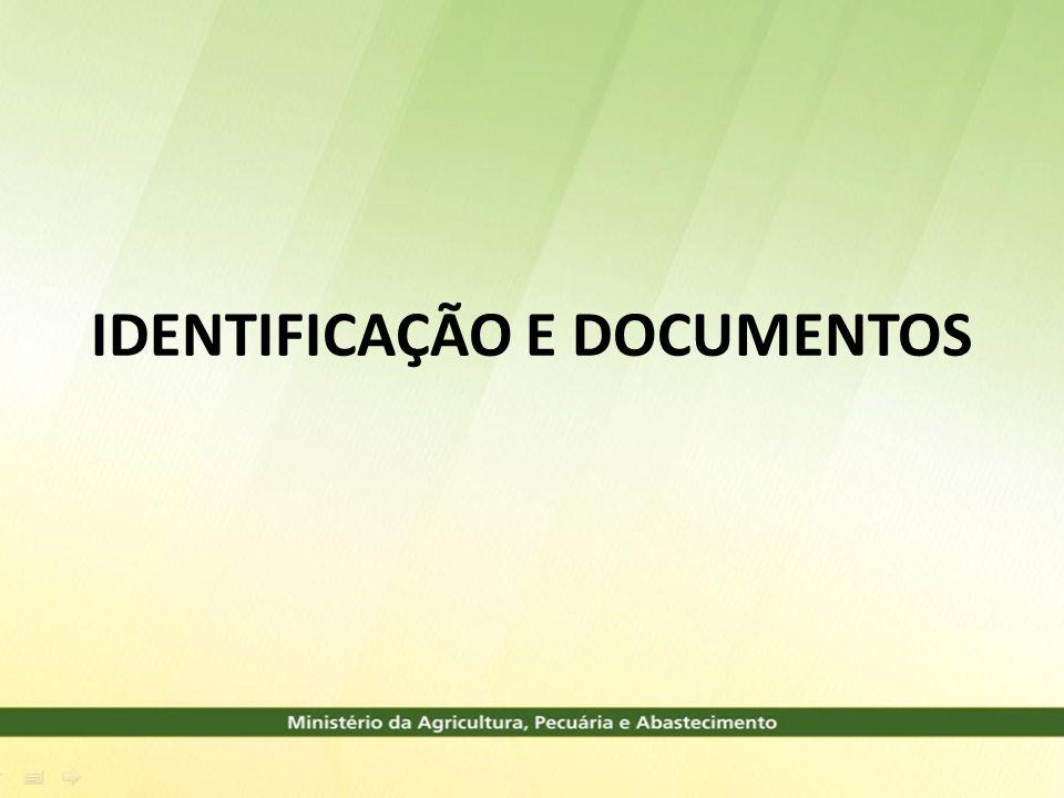 IDENTIFICAÇÃO A IDENTIFICAÇÃO PARA A COMERCIALIZAÇÃO DEVERÁ SER EXPRESA EM LUGAR VISÍVEL DA EMBALAGEM, ESCRITA EM PORTUGUÊS