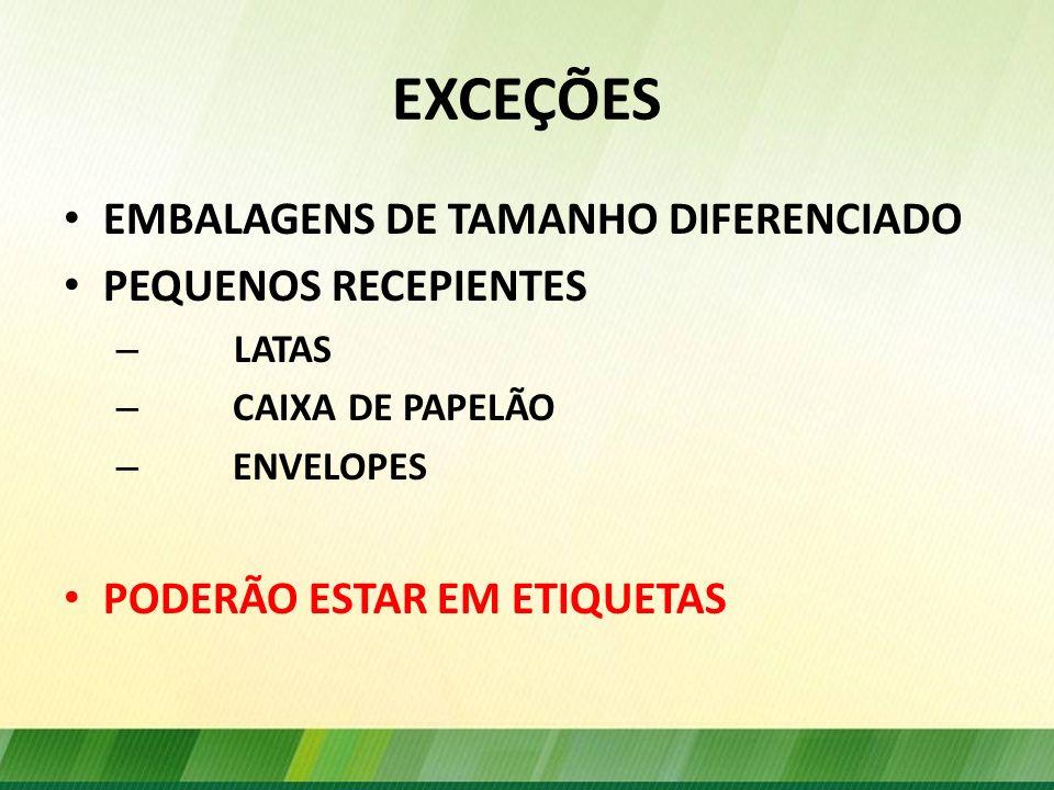 OUTRAS INFORMAÇÕES OBRIGATÓRIAS A EXPRESSÃO SEMENTES DE + NOME COMUM NOME DA CULTIVAR - CNCR INDICAÇÃO DA CATEGORIA INDICAÇÃO DO LOTE