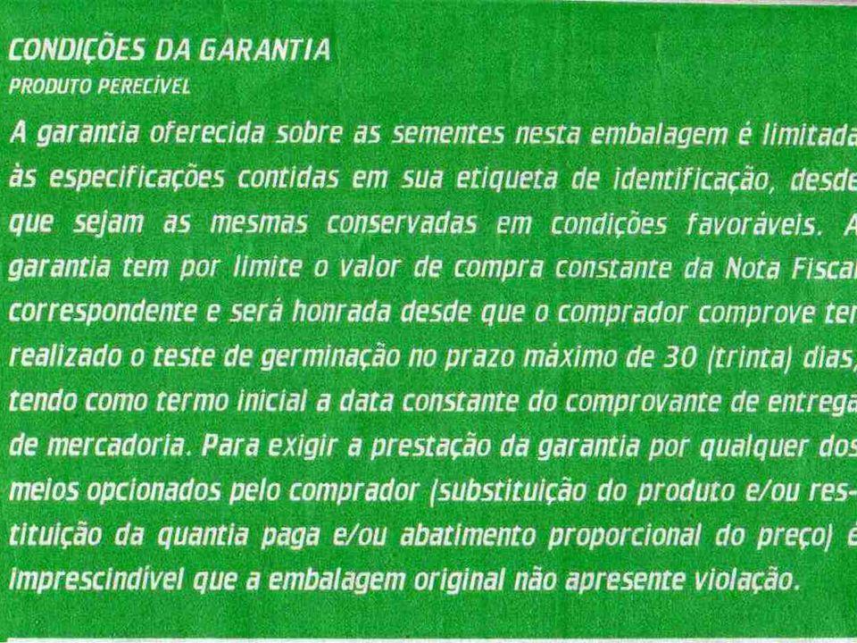 TERMO DE CONFORMIDADE AS INFORMAÇÕES DO TERMO DE CONFORMIDADE SERÃO TRANSCRITAS DO BOLETIM DE ANÁLISE DE SEMENTES AS GARANTIAS QUE CONSTAM NAS ETIQUETAS DAS EMBALAGENS PODEM SER DIFERENTES DAQUELAS QUE ESTÃO NO TERMO DE CONFORMIDADE DA SEMENTE