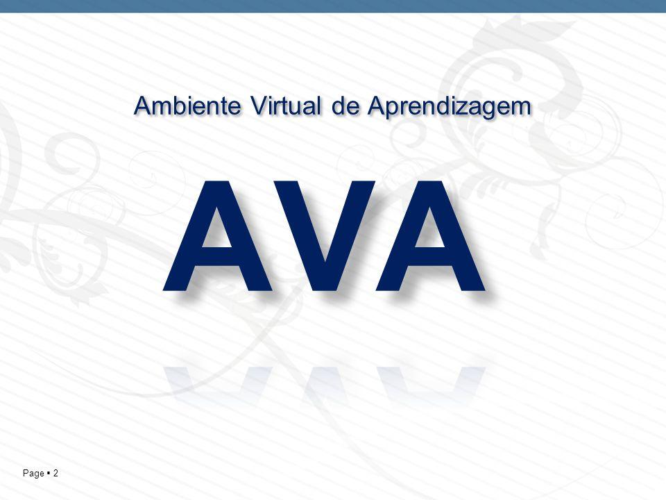 Page 2 Ambiente Virtual de Aprendizagem