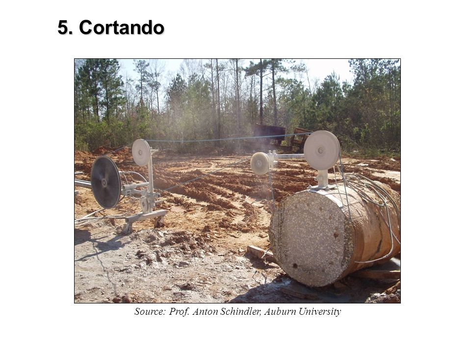 5. Cortando Source: Prof. Anton Schindler, Auburn University