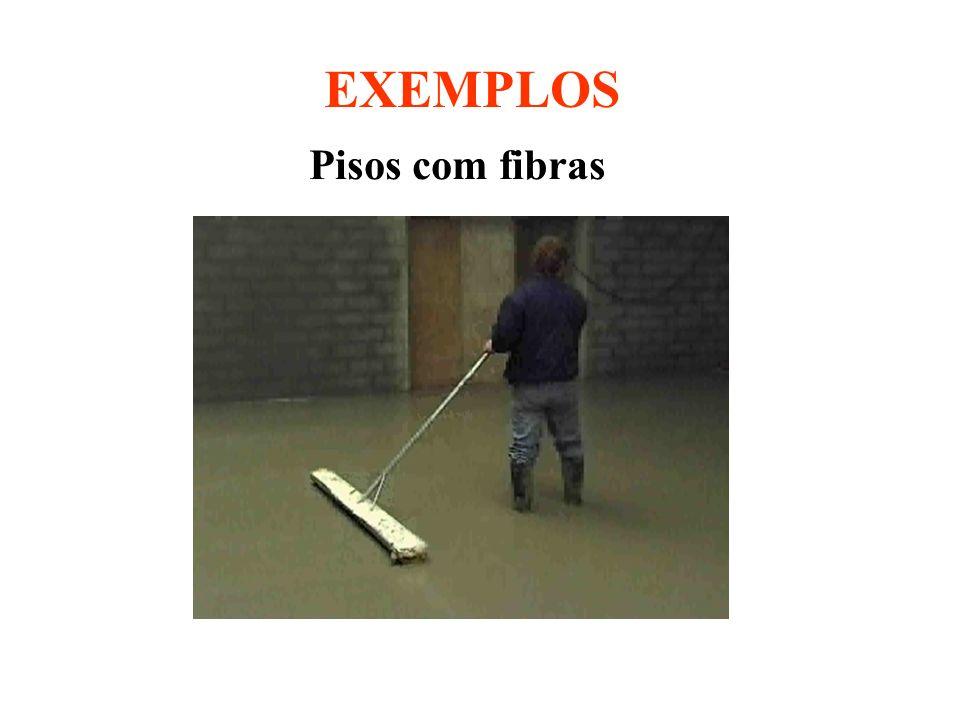 Pisos com fibras EXEMPLOS