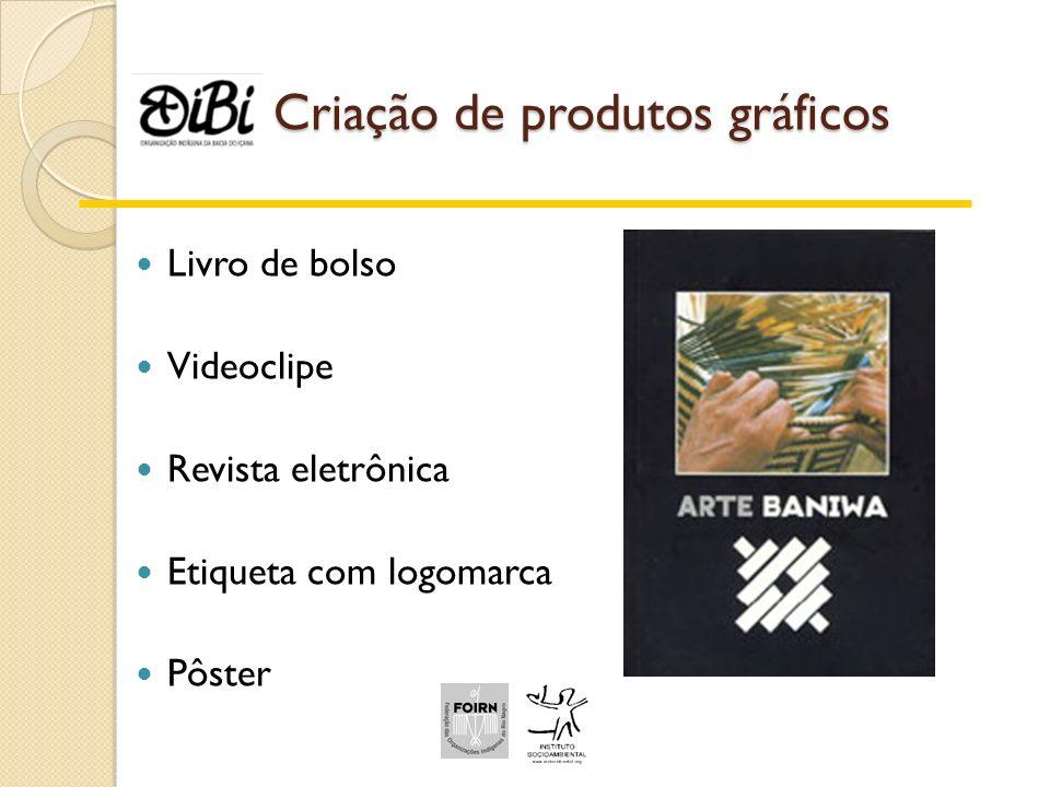 Criação de produtos gráficos Livro de bolso Videoclipe Revista eletrônica Etiqueta com logomarca Pôster