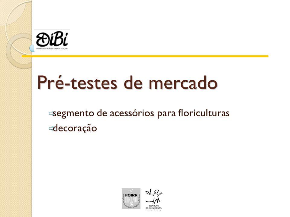 Pré-testes de mercado segmento de acessórios para floriculturas decoração